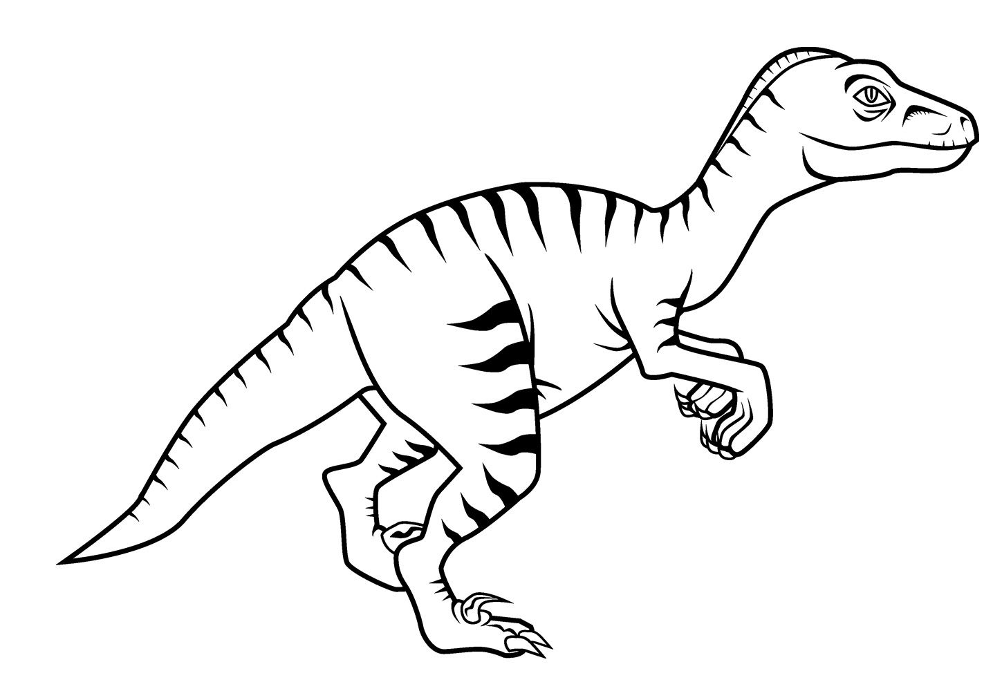 Free New Dinosaur Velociraptor Coloring Pages For Kids.