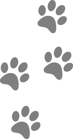 Panther Paw Print Clip Art.