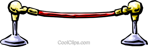 velvet rope Royalty Free Vector Clip Art illustration.