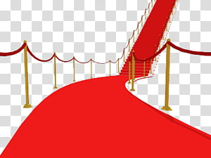 Red Carpet ByunCamis, red carpet with velvet rope and stair.