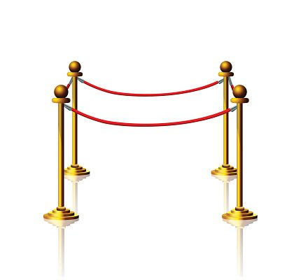 Golden Velvet Rope premium clipart.