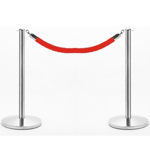 Red Velvet Rope & Chrome Post Set (Set/2.