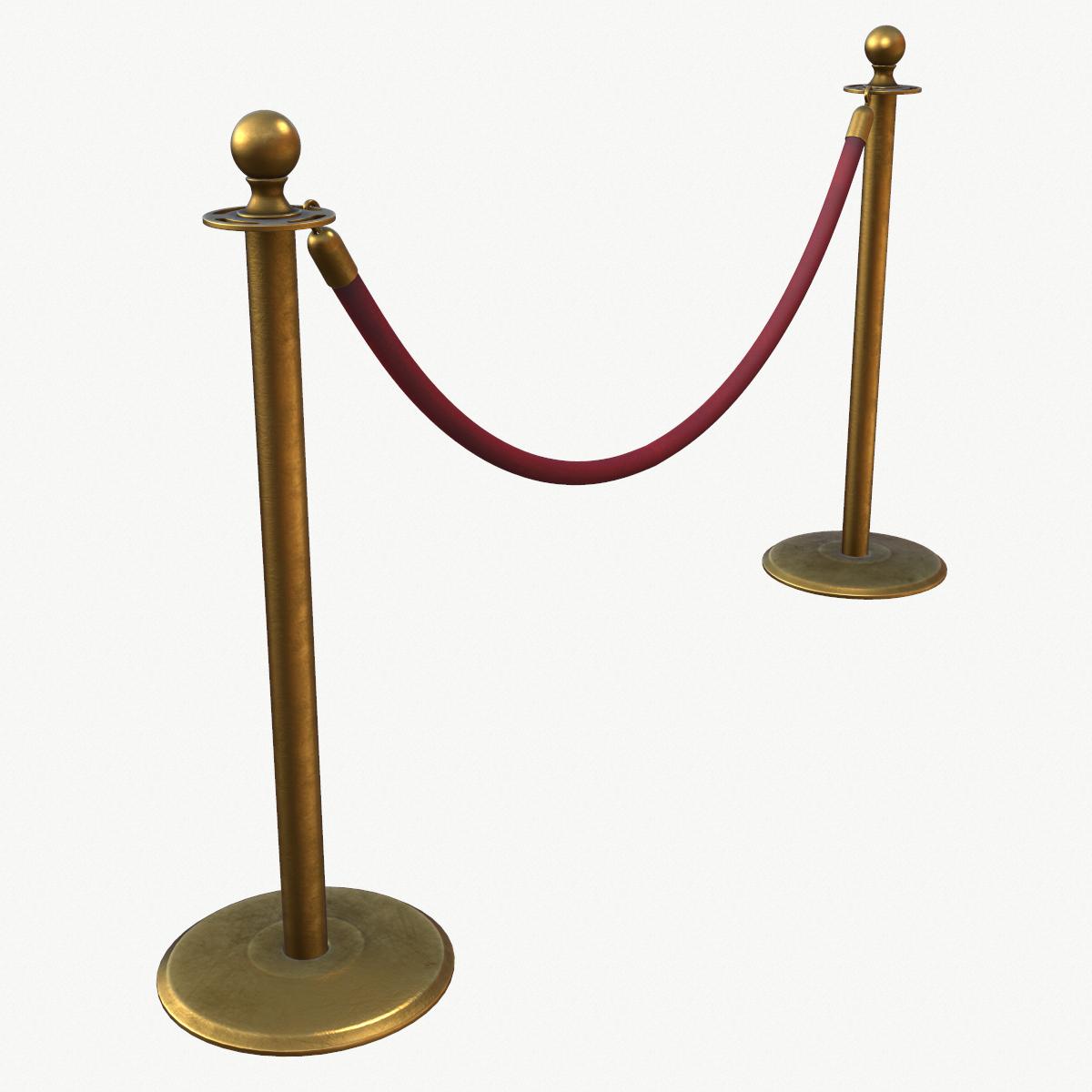Stanchion and Velvet Rope 3D Model in Miscellaneous 3DExport.