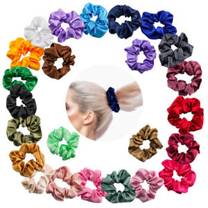 LOTS OF 24 Pcs /Set WOMEN VELVET SCRUNCHIES HAIR TWISTER.