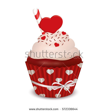 Red Velvet Cupcake Stock Vectors, Images & Vector Art.
