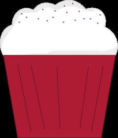 Red Velvet Cupcake Clip Art.