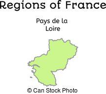 Clipart Vector of Vendee, Pays de la Loire outline map set.