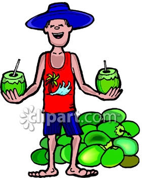 Vendedor and coco clipart image.