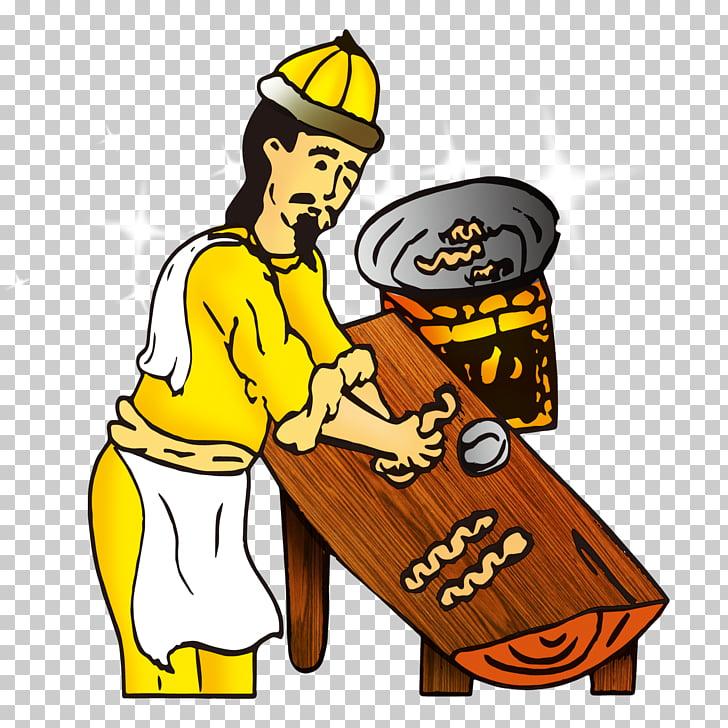 Ilustración de dibujos animados de masa, vendedores de.