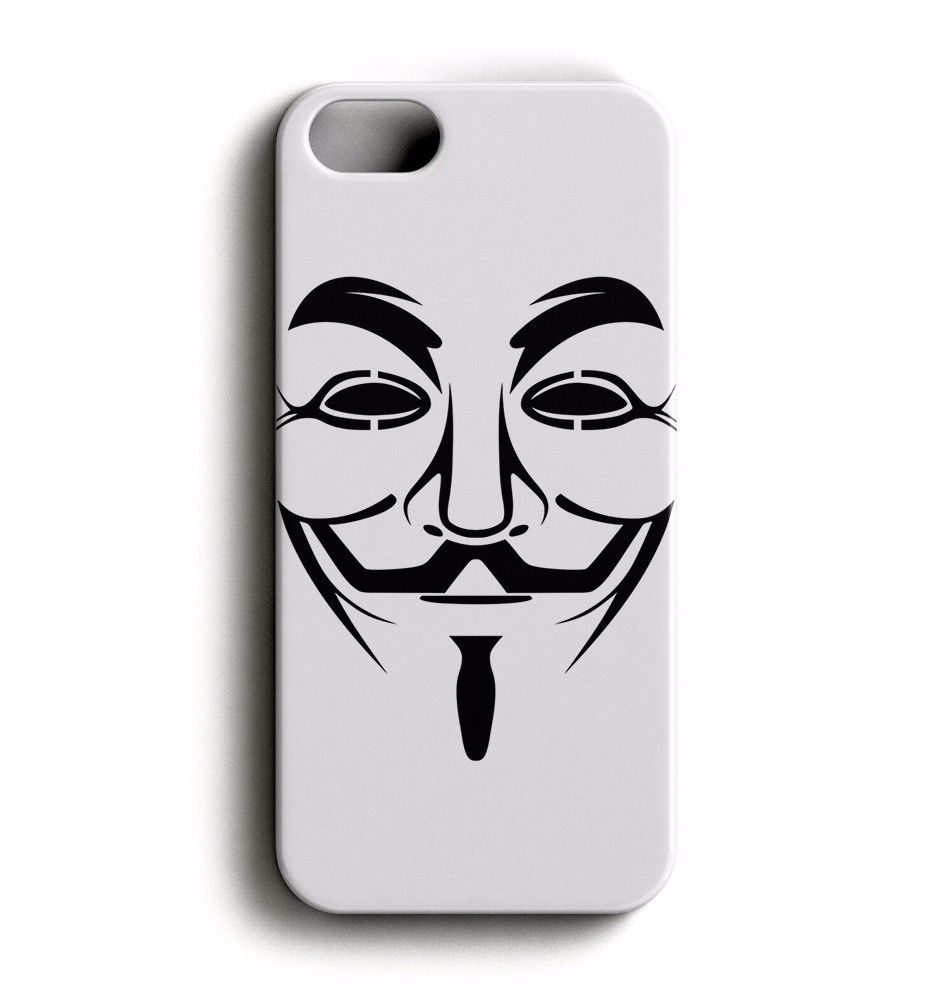 vendetta clipart Guy Fawkes mask for iPhone SE / 5 /5S Case Cover.