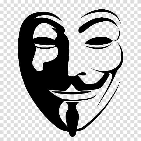 Mr. Anonymous mask illustration, Anonymous Guy Fawkes mask.