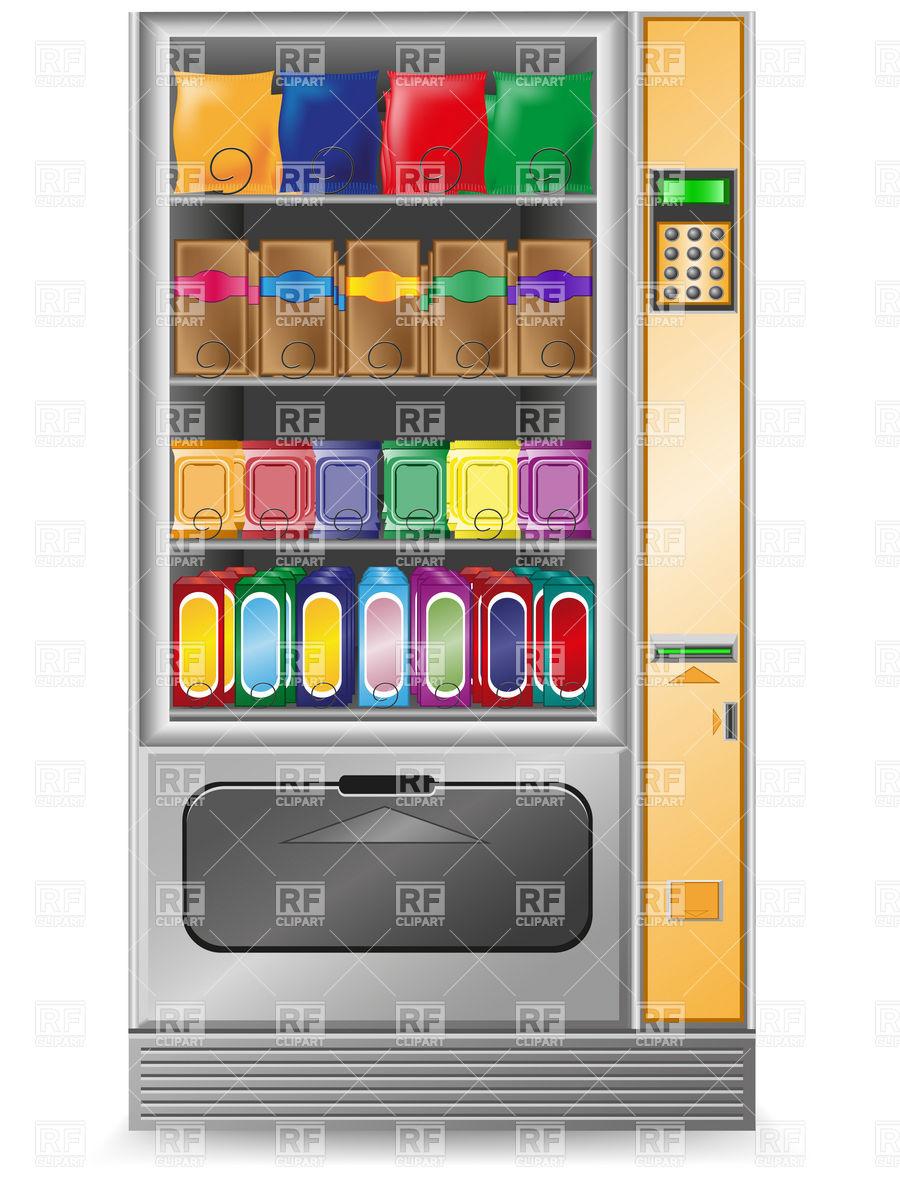 Vending Machine Snacks Clipart.