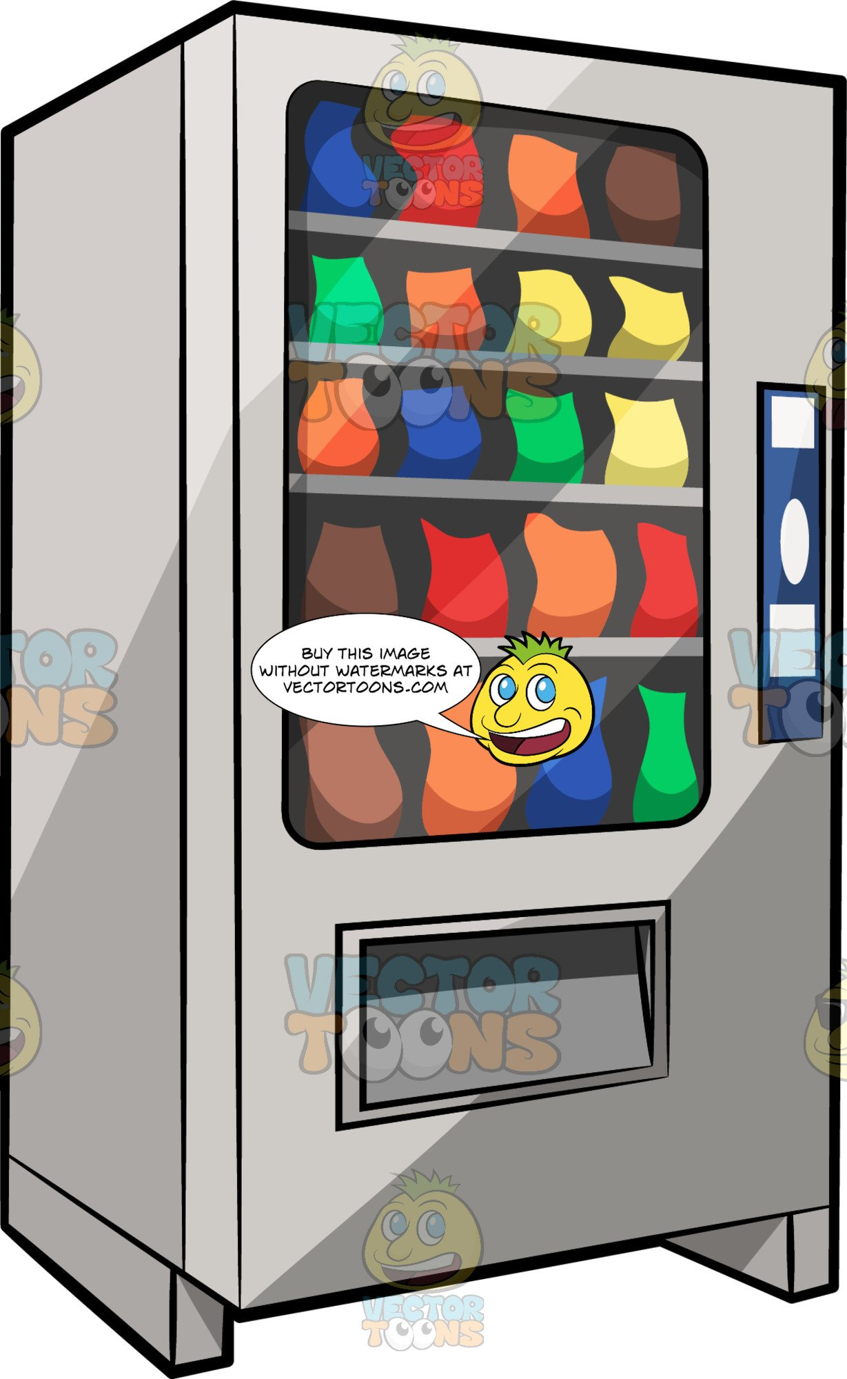 A Traditional Snack Vending Machine.