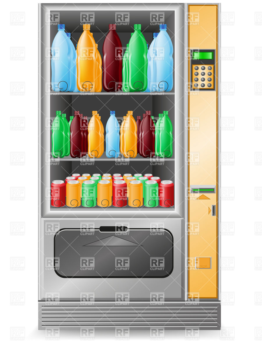 Vending machine soda water clipart.