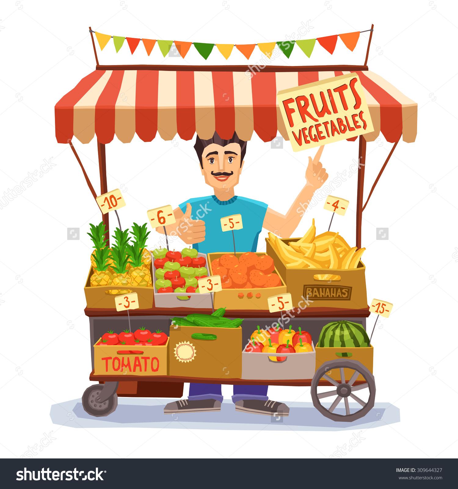 Vegetable Vendor Clipart.