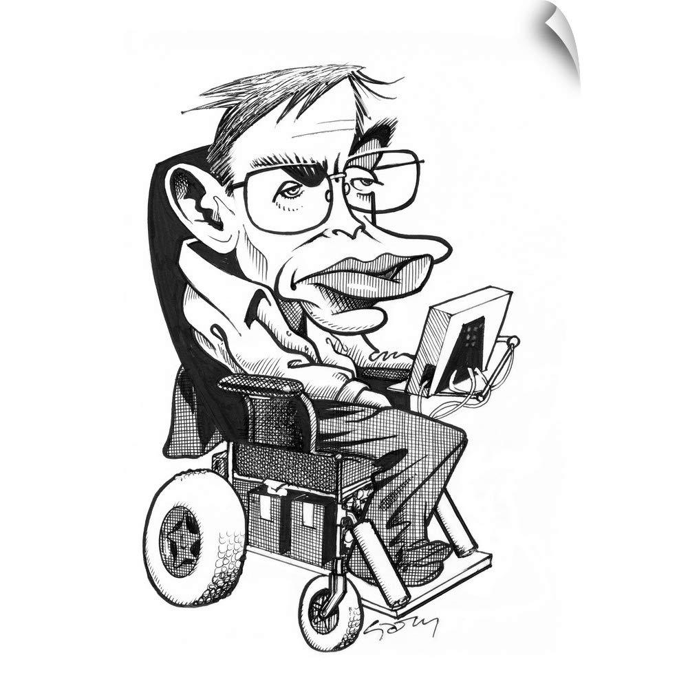 Amazon.com: CANVAS ON DEMAND Stephen Hawking, British.