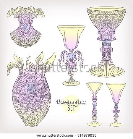 Venetian Glass Stock Photos, Royalty.