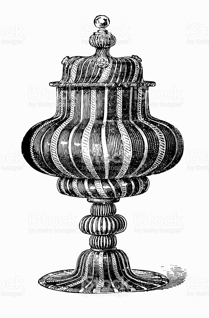 Venetian Glass Vessel stock vector art 506342634.