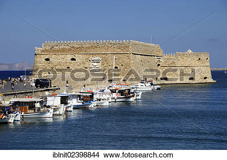 "Stock Photo of ""Venetian fortress of Rocca al Mare at the harbor."