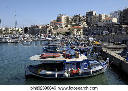 "Stock Images of ""Venetian Port, Heraklion or Iraklion, Crete."