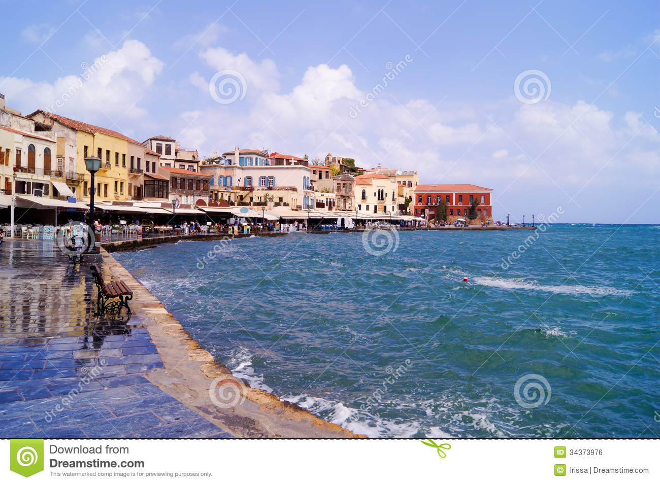 Venetian Harbour In Chania Royalty Free Stock Image.