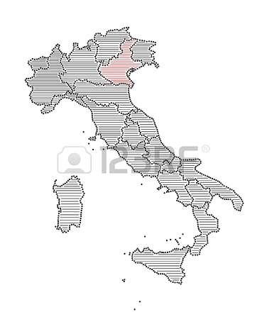 Map of veneto region clipart.