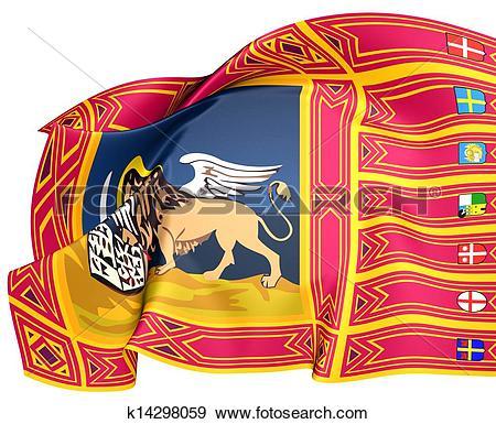 Stock Illustration of Flag of Veneto, Italy. k14298059.