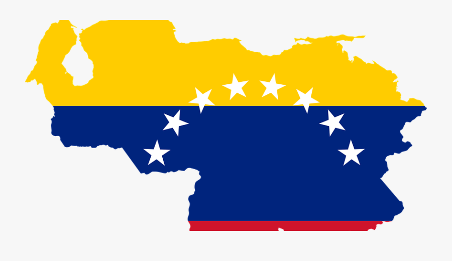 Venezuela Country Outline With Flag Clipart , Png Download.