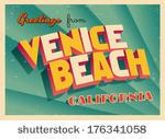 Venice Beach Free Vector Art.