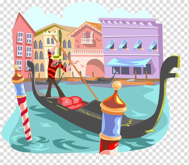 Black gondola illustration, Gondola in Venice Gondola in.
