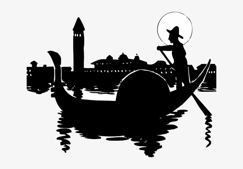 Water, City, Silhouette, Cartoon, Italy, Italian, Boat.