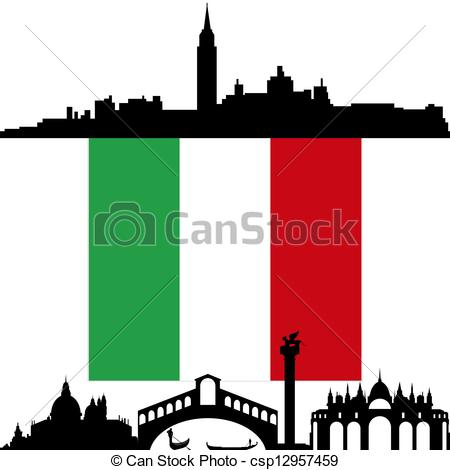Clipart Vector of Italy. Venice..