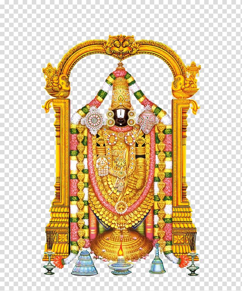 Venkateswara illustration, Tirumala Venkateswara Temple.