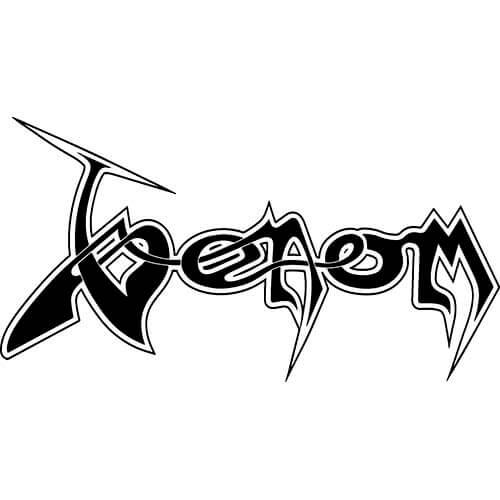 Venom Band Logo Decal Sticker.