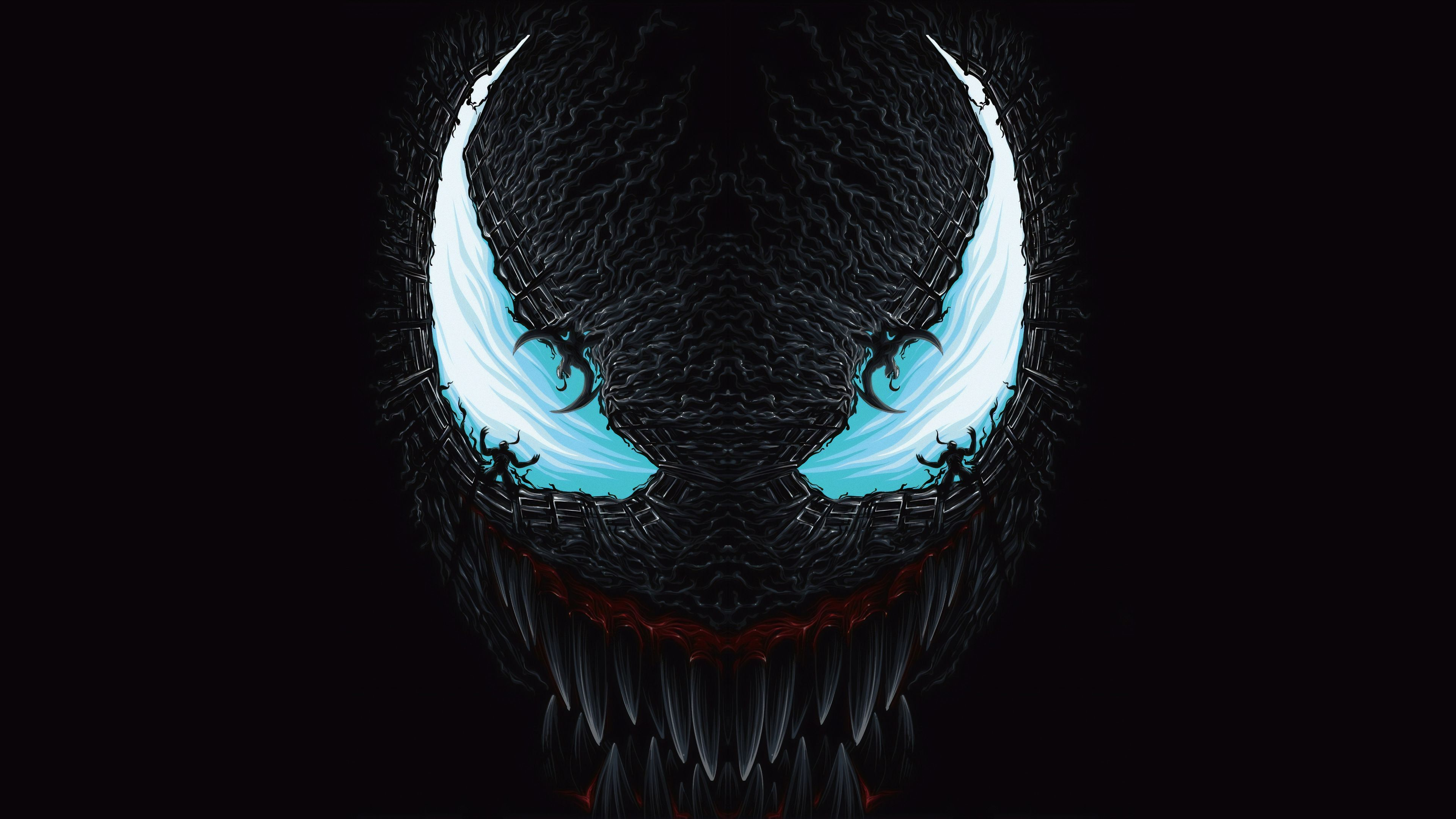 4k Venom Art Blue Venom wallpapers, superheroes wallpapers.