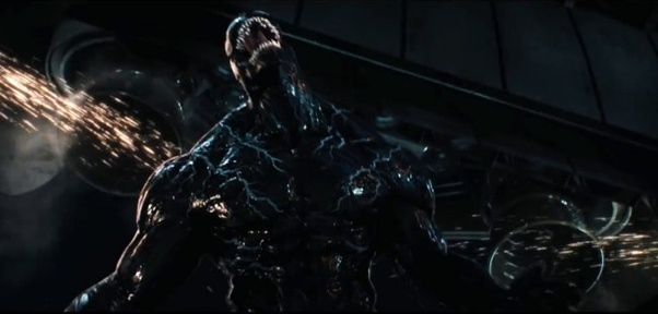 Why is there no white spider logo on Venom\'s chest?.