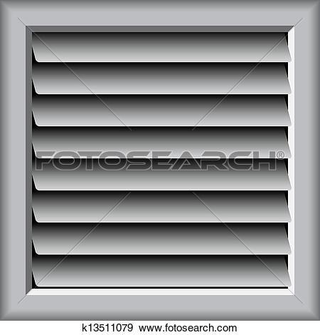 Clip Art of plastic lattice of ventilation k13511079.