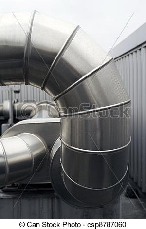 Stock Photography of Large ventilation duct.
