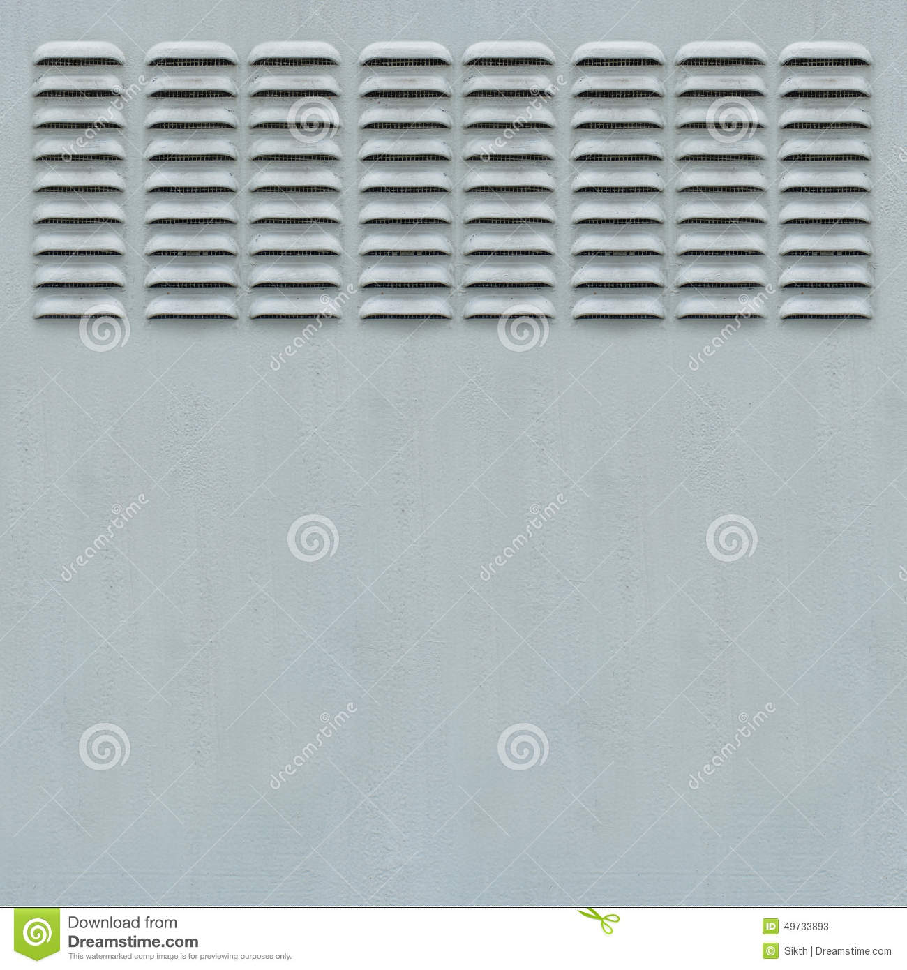 Metal Panel With Ventilation Grill Stock Photo.