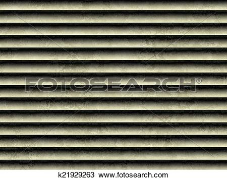 Drawing of Dirty grunge ventilation grille or blinds 3D k21929263.