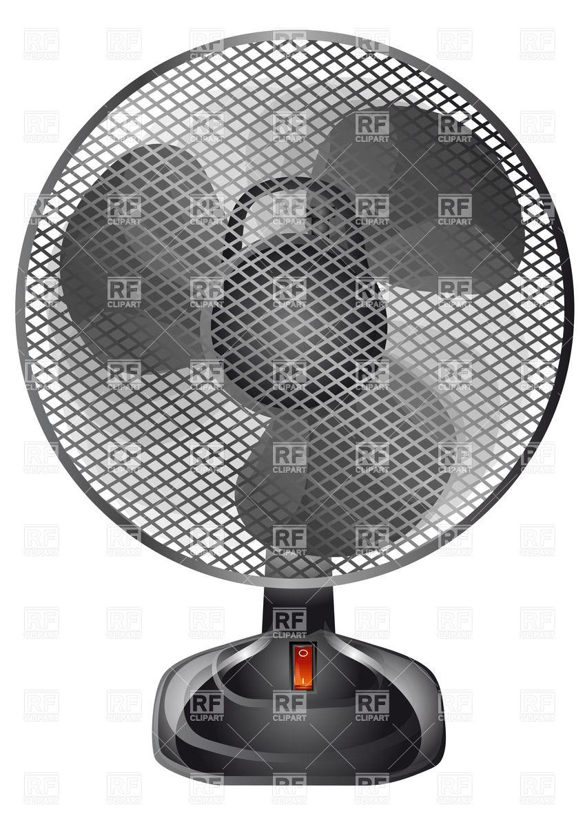 Ventilator (fan) with protective grille Vector Image #27616.