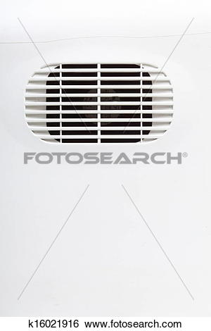 Stock Images of plastic air vent in white wall ventilation grille.