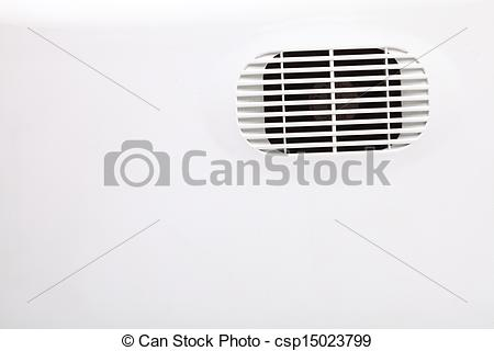 Stock Photographs of plastic air vent in white wall ventilation.