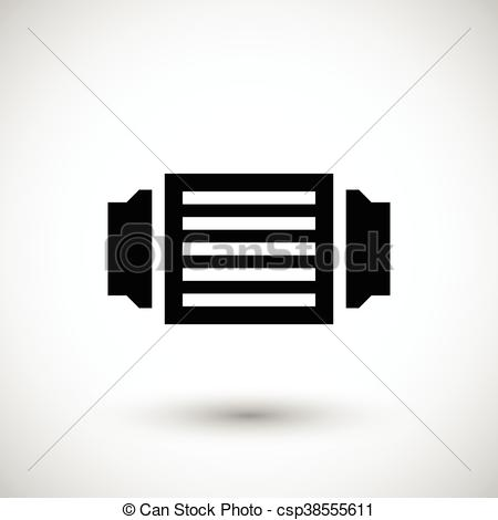 Vector Clip Art of Ventilation grille icon isolated on grey.