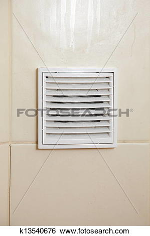 Stock Images of Vent white bathroom ventilation grille k13540676.