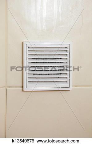 Stock Images of Vent white bathroom ventilation grille k13540676.