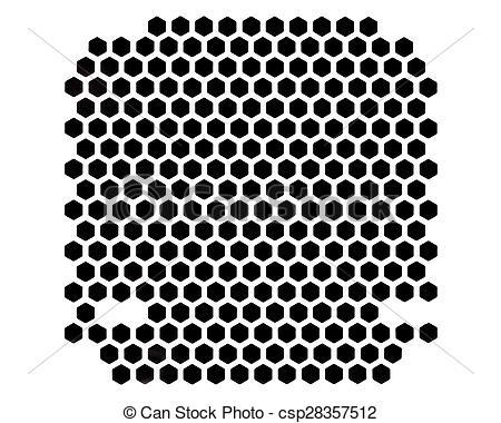 Clipart of PC case ventilation grille.