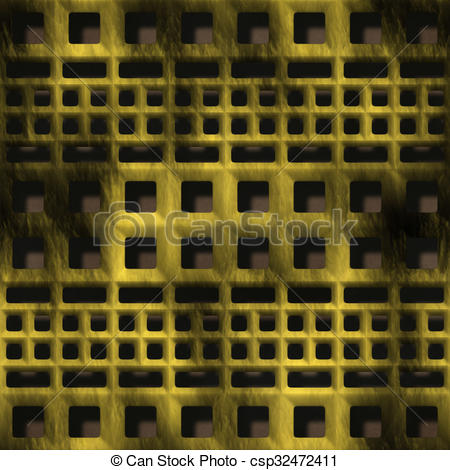 Clipart of Decorative ventilation grille in the form of a square.