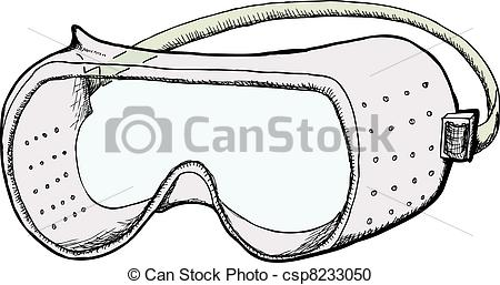 Vector Clipart of Safety Goggles.