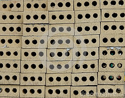 Brick Ventilation Holes. Stock Photo.